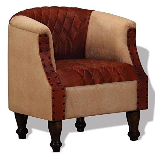 Festnight sessel armsessel wohnzimmersessel loungesessel for Sessel braun stoff