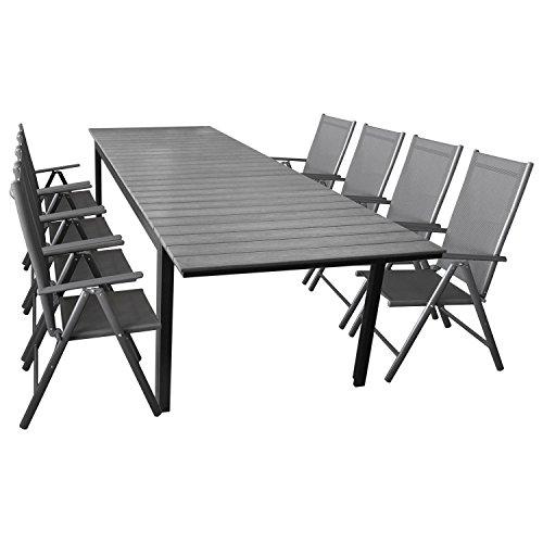 elegante sitzgarnitur 9 teilig sitzgruppe gartengarnitur terrassenm bel gartenm bel set. Black Bedroom Furniture Sets. Home Design Ideas