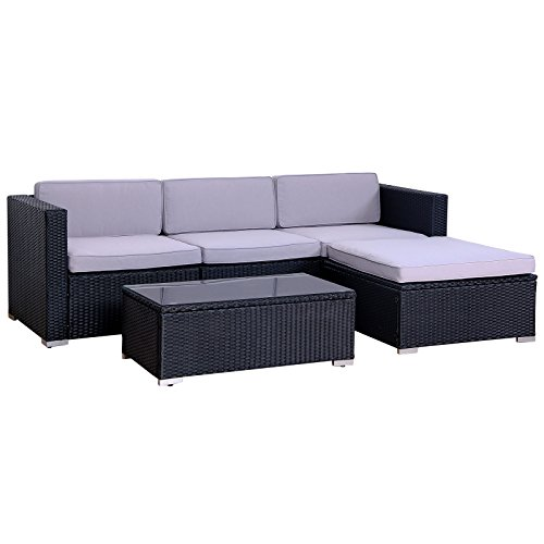 poly rattan lounge california gartenset sofa garnitur. Black Bedroom Furniture Sets. Home Design Ideas