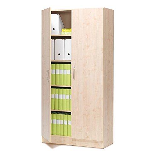 AJ Produkter AB 117252 Büroschrank mit Schloss, Laminat, 2000 mm x 1000 mm x 310 mm, Birke