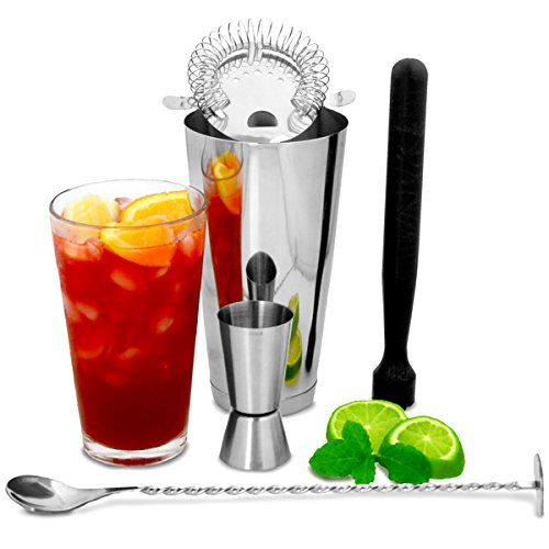 Boston Cocktail Shaker Set mit Jigger Messen