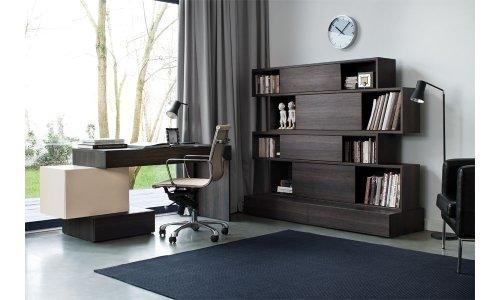 Büroeinrichtung komplett Büromöbel Set PHANTASY Arbeitszimmer 5-teilig Schreibtisch Regal TV-Schrank