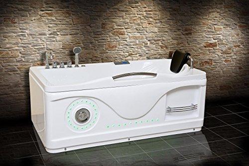 Hydrotherapie-Bäder - Milano 761 Links (Hauptfoto) / Whirlpool / Jazuzii Badewanne / Bedienfeld mit FM-Radio / CD / MP3 / 43 Edelstahl Körper Düsen / 24 Monate Garantie / Schnelle Lieferung