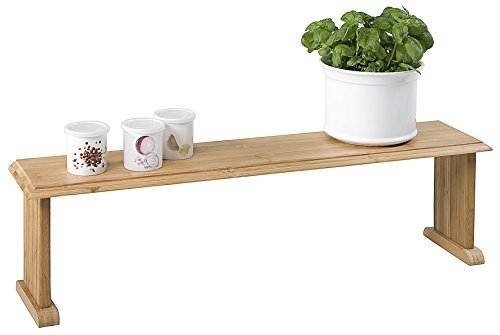 Kesper Küchenregal, Kräuterregal, Blumenregal, Bambusregal, aus Bambus, Maße: 760 x 750 x 215 mm