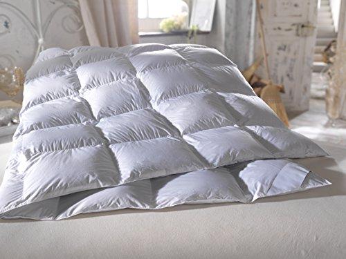 Neu antiallergisch Luxus Bettdecke Daunendecke 135x200 cm Decke hochwertige masuren Gänsedaunen Daunen 4cm hohe Innenstege Down Douvet