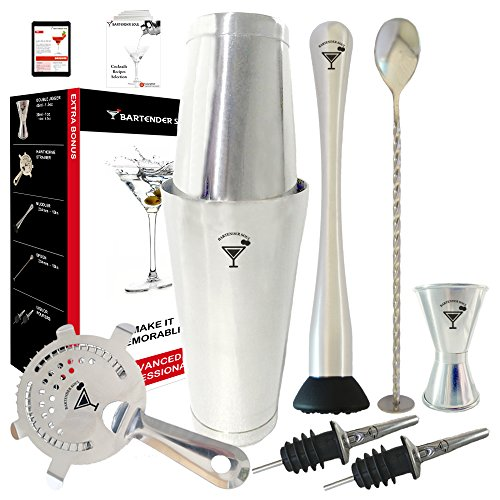 Professionelle Boston Cocktailshaker Set von BARTENDER SOUL