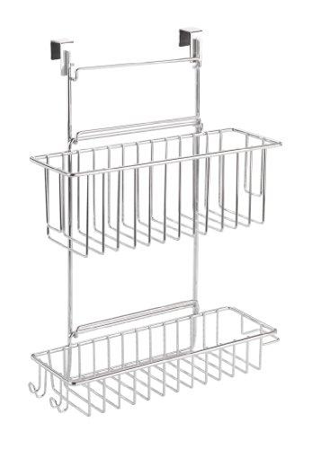 Wenko 818110 Küchenschrank Einhängregal- mit 2 Ablagen, verchromtes Metall, 32 x 47 x 12.5 cm, Chrom