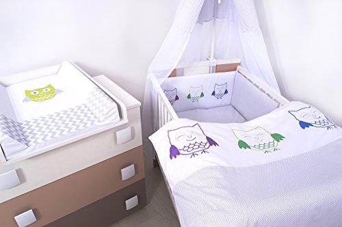 15Tlg. Kinderzimmer - Wickelkommode, Babybett, voll Ausstattung