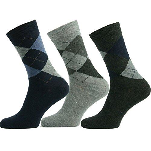 3 Paar Grösse 39-42 Herrensocken Baumwolle Business Herren Strümpfe Socken Schwarz Neu