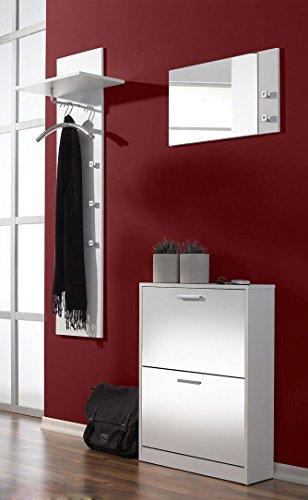 """3-tlg. Garderoben-Set """"Torino"""" Farbe: Weiß"""