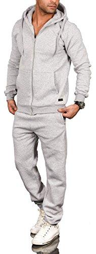 A. Salvarini Herren Jogging Anzug Trainingsanzug Sportanzug Sweatshirt AS071