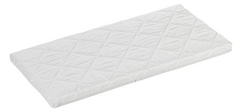 ALVI Babymatratze Air & Clean | 100 % Baumwollbezug | Matratze für Stubenwagen | optimale Durchlüftung dank Klima-Kanäle | Wiegenmatratze 4 cm soft für Kinderwagen, Stubenkorb, Wiege, Beistellbett