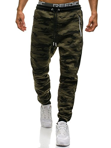 BOLF Herren Trainingshose Jogginghose Sporthose mit Camo-Muster Street Style 6F6 Motiv