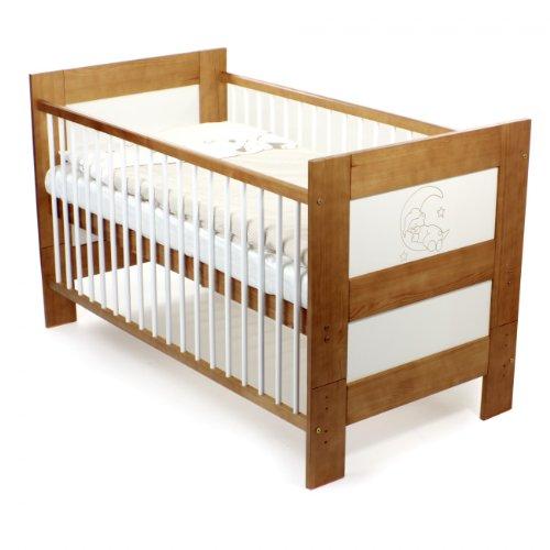 Baby Vivo Kinderbett Juniorbett Babybett Massiv Holz Kiefer 140 x 70 cm - Teddy