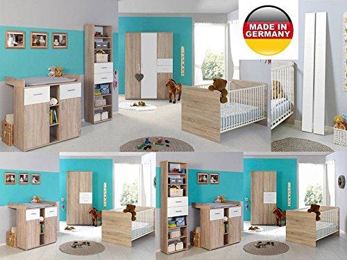 Babyzimmer Komplettset / Kinderzimmer komplett Set ELISA verschiedene Varianten in Eiche Sonoma / Weiß