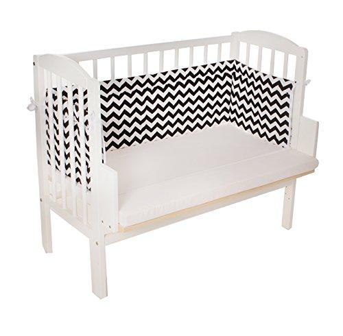 Beistellbett, Kinderbett, Gitterbett, Baby Bett 90x40cm, Babyblume Maria