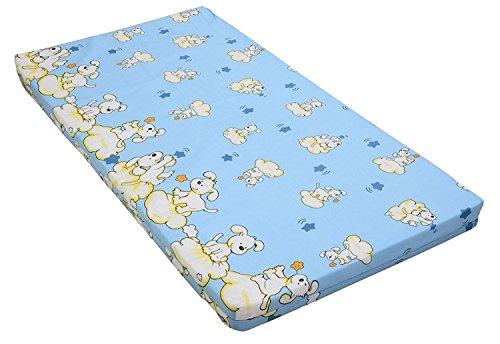 Best For Kids Kinderbettmatratze, Babymatratze 60x120 cm Kinder Rollmatratze 5 cm aus 100% Baumwolle