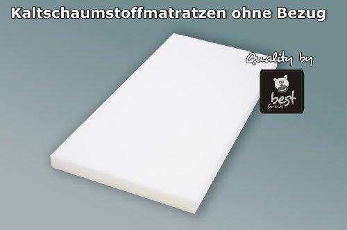 Best For Kids Kinderbettmatratze Reisebettmatratze Babymatratze Schaumstoff Matratze RG25/44 Ohne Bezug in 2 Gr. 60x120 und 70x140 cm