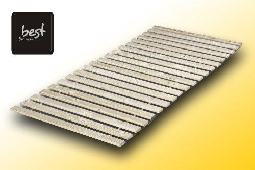 Best For You Rollrost aus 15 oder 20 massiven stabilen Holzlatten Geeignet für alle Matratzen - in 2 Grössen 90x200 cm und 140x200 cm