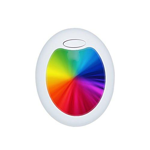 BonAura LED Nachtlicht mit stufenlosem Farbwechsel als Orientierungslicht und Einschlafhilfe für Kind & Baby – Nutzen Sie die Stimmungslampe in Ihrer Lieblingsfarbe als Schlummerlicht im Kinderzimmer