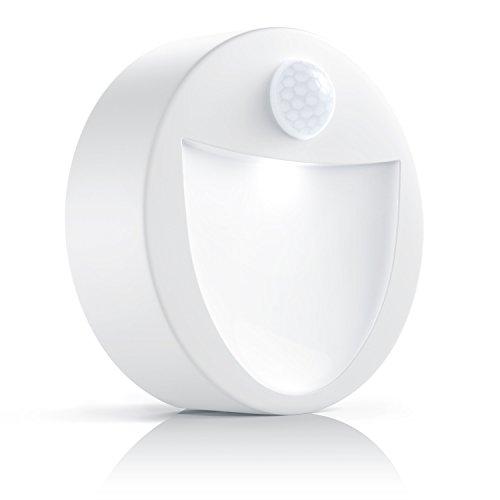 Brandson - LED Nachtlicht mit Bewegungsmelder und Helligkeitssensor (Dämmungssensor) | Batteriebetriebene Drahtlose Nachtleuchte / Nachtlampe mit Batterie (flexibel Einsetzbar) | inkl. Magnethalterung + Wandhalterung-Vorrichtung | Energieklasse A+