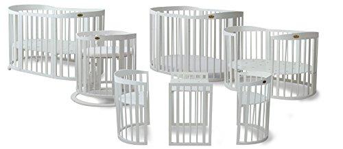 ComfortBaby ® SmartGrow 7in1 Baby- Kinderbett / erweiterbar, multifunktionell, aus MASSIVHOLZ HERGESTELLT IN DER EU ( NEUES MODELL )