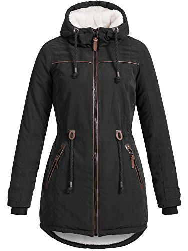 DESIRES Damen Bessi warmer Winter Parka Mantel Jacke Lang gefüttert Teddy