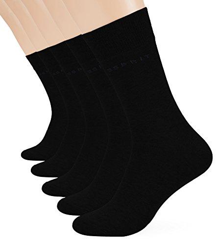 ESPRIT Herren Strick Socken Uni, 5er Pack