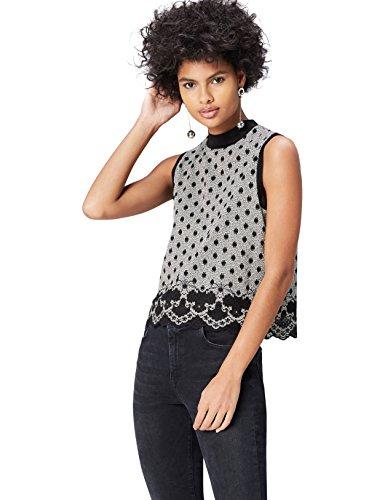 FIND Bluse Damen Ärmellos, mit kastenförmiger Silhouette