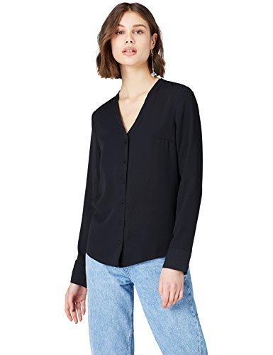 FIND Damen Bluse mit V-Ausschnitt