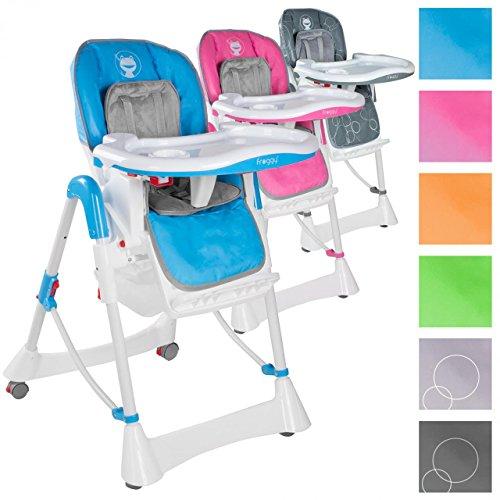 Froggy Kinderhochstuhl Babyhochstuhl mit Sicherheitsgurt Großem Esstisch Höhenverstellbar Zusammenklappbar Kinderstuhl Babystuhl Hochstuhl Stuhl