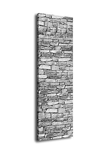 Garderobe mit Design Natursteine Grau G359 40x125cm Wandgarderobe Sandstein Mauer