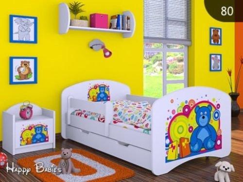 HB Kinderbett mit Matratze und Bettkasten - NEU , Verschiedene Motive Weiss