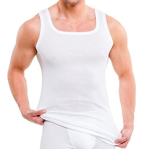 HERMKO 93015 4er Pack Herren Unterhemd aus Bio-Baumwolle