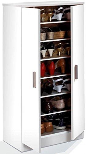 Habitdesign 007813o–Schuhschrank, Weiß, Maße 108x 55x 36cm