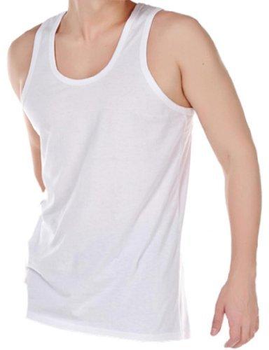 Herren Unterhemd 6er Packung 100% Baumwolle Sommer Hemd Weiß Erhältlich in S-XXL