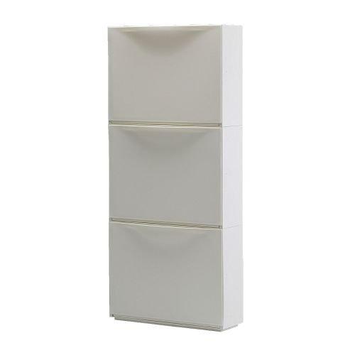 IKEA TRONES -Schuhschrank / Lager weiß / 3 Stück - 51x39 cm