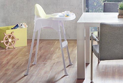 IMPAG ® Baby Kinder Hochstuhl 2 in 1 mit Sicherheitsgurt | + 2 Sitzverkleinerer | standfestes Metallgestell | zerlegbar | großer abnehmbarer Tisch | wandelbar zum Kinderstuhl | sicherheitsgeprüft