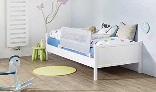 IMPAG® Bettgitter Bettschutzgitter für Kinderbetten Jugendbetten | Metallgestell mit Stoffbezug | runterklappbar | universell für alle Matratzen | rutschfest | 3 Größen 100-135 cm