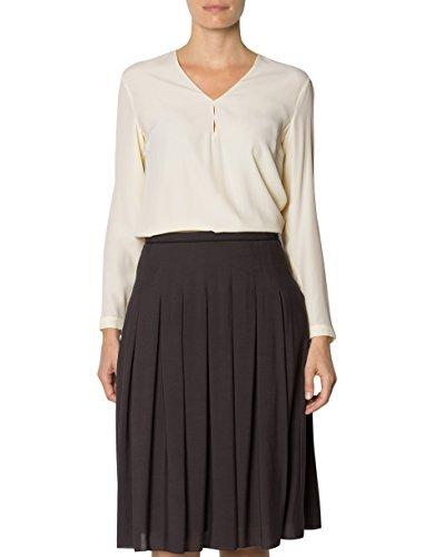 JOOP! Damen Bluse Seide Blusenshirt Unifarben, Größe: 38, Farbe: Beige