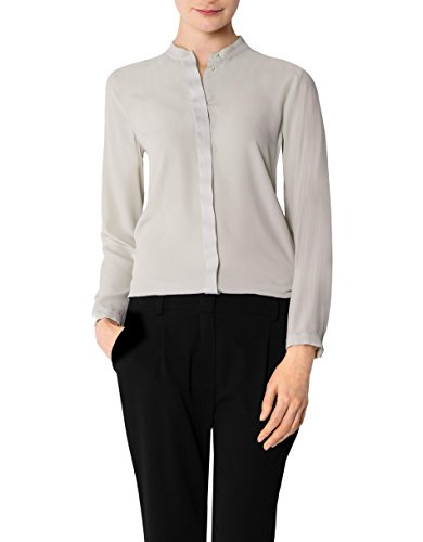 JOOP! Damen Bluse Seide Blusenshirt Unifarben, Größe: 42, Farbe: Beige