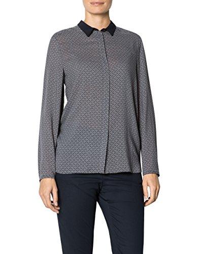 JOOP! Damen Bluse Viskose Blusenshirt Floral, Größe: 36, Farbe: Blau