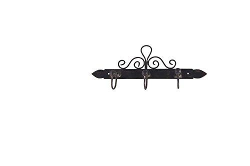 KOM Amsterdam 8702 Leiste für 3 Geschirrtücher, 26 x 16 cm, eisen antic finish
