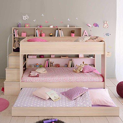 Kinderetagenbett mit Treppe Stauraum Pharao24