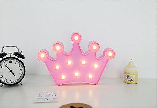Krone Nachtlicht Kinder, Nachttisch SüßE Nachttischlampe Children Night Light Deko Kinder MäDchen Babytisch Spielzeug Schlafzimmer Led-Nachtlicht für Babys Cartoon Orientierungslicht Einschlafhilfe