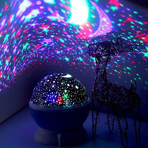 LED Nachtlicht -Elecstars Nachtlampe Sternenhimmel Projektor Lamp Bedside Schlaflicht für Baby & Kinders Schlafzimmer Romantische Geschenke für Frauen (blau) …