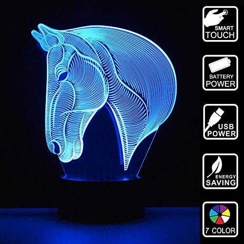 LED-Nachtlicht Kinder 3D Lichtertüte Luminaria Lampe für Sensor LED Licht Schlafzimmer