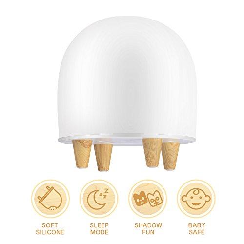 LED Nachtlicht Kinder, multifun Nachtlicht Baby mit 3 DIY Deko Folie, Nachttischlampe Kinderzimmer Weihnachtsgeschenke, Nachtleuchte Silikon, Baby Nachtlampe Spielzeug für Schlafzimmer Wohnzimmer