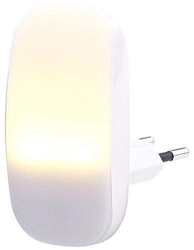 Lunartec Nachtlampe: Kompaktes LED-Steckdosen-Nachtlicht, Dämmerungssensor, 1 lm, 0,25 W (Nacht-Licht)