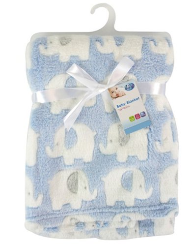 "Luxus Soft Baby Fleece Decke, 75 x 100 cm für Babys ""First Steps"""
